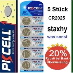CR1220 Lithium 3V Knopfzellen im Blister 5 Stück