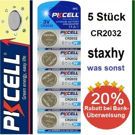 CR1225 Lithium 3V Knopfzellen im Blister 5 Stück