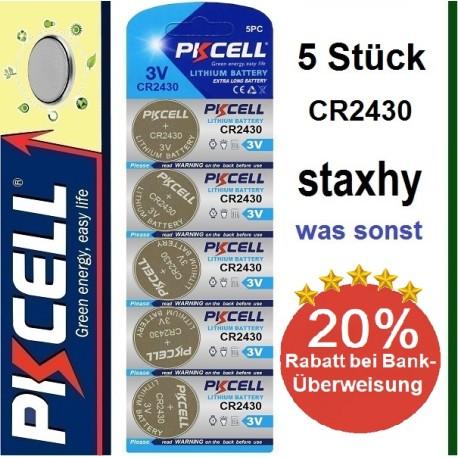 CR1616 Lithium 3V Knopfzellen im Blister 5 Stück