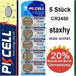 CR1620 Lithium 3V Knopfzellen im Blister 5 Stück