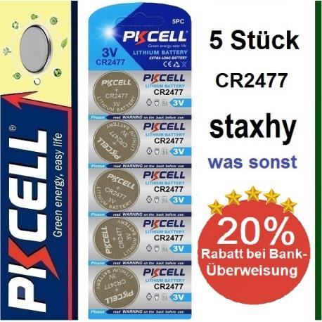 CR1632 Lithium 3V Knopfzellen im Blister 5 Stück
